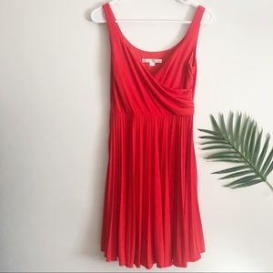NWT Red Pleated Dress
